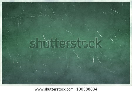 Grunge green wall texture - stock photo
