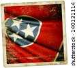 Grunge sticker Flag of Tennessee (USA) - stock photo