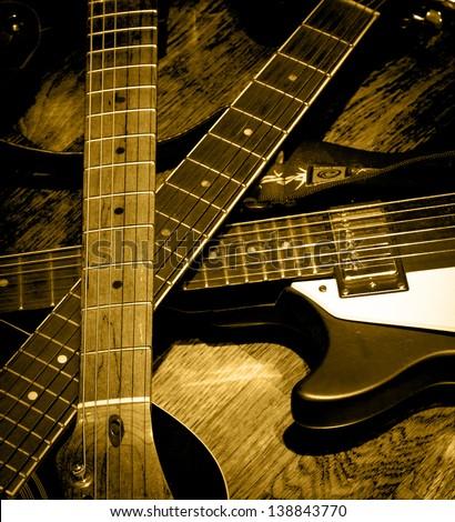 Three Wooden Crosses Guitar