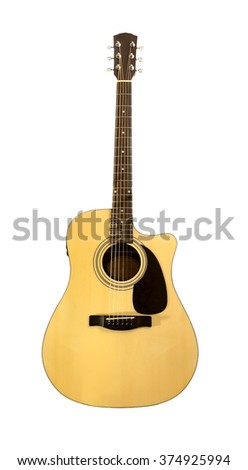 guitar  on a white background - stock photo