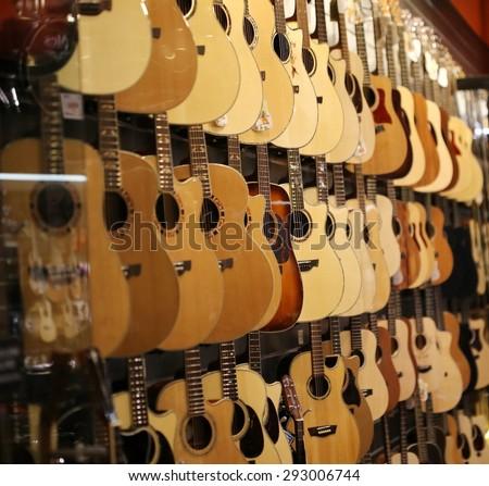 guitar shop - stock photo