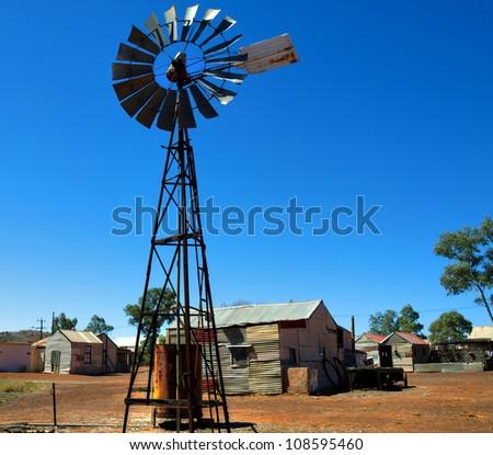 Gwalia, Gold mining Ghost Town Western Australia - stock photo