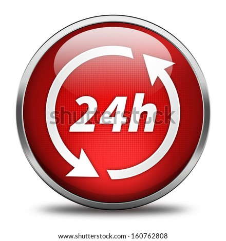 24h button isolated