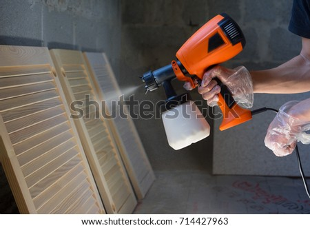 Paint Spray Gun Mechanic Arm