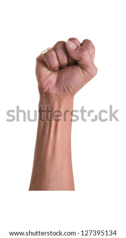 hand isolated on white - stock photo