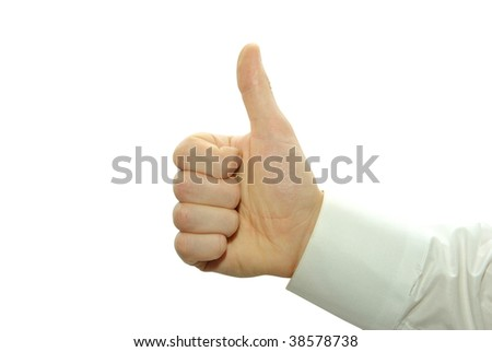 hand with thumb up ok signal