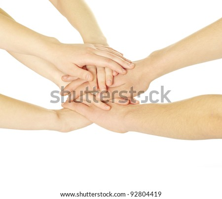 hands isolated on white background