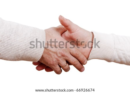Handshake. - stock photo