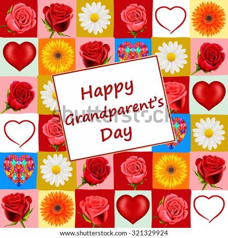 Happy Grandparent's Day card         - stock photo