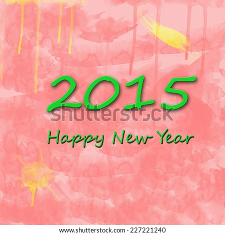 2015 Happy New Year - stock photo