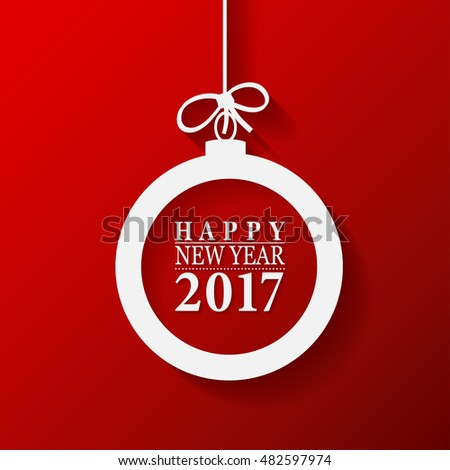 2017 Happy New Year and Merry Christmas Ball