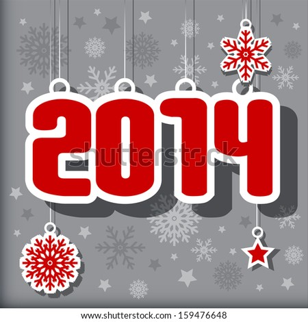 2014 Happy New Year card or background. - stock photo
