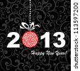 2013 Happy New Year greeting card or background.  illustration - stock vector