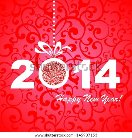 2014 happy new year greeting card stock illustration 145907153 2014 happy new year greeting card or background illustration m4hsunfo