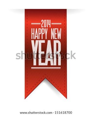 2014 happy new year textured banner illustration design - stock photo