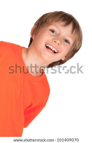 Happy young boy - stock photo