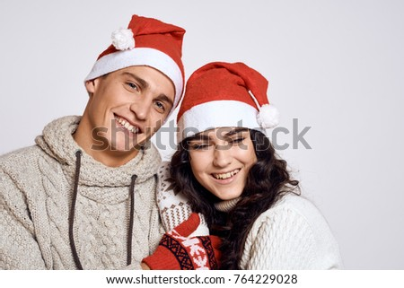 happy young couple, new year