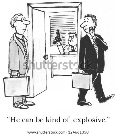 """He can be kind of explosive"" - stock photo"