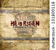 """He Is Risen"" Religious Background - stock"
