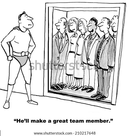"""""""He'll make a great team member."""" - stock photo"""