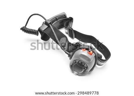 headlamp - stock photo