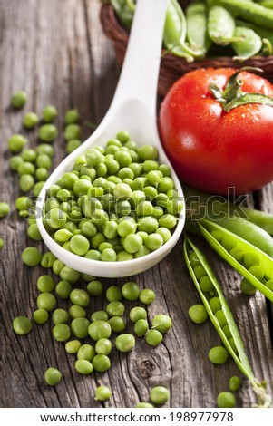 healthy vegetarian food - stock photo