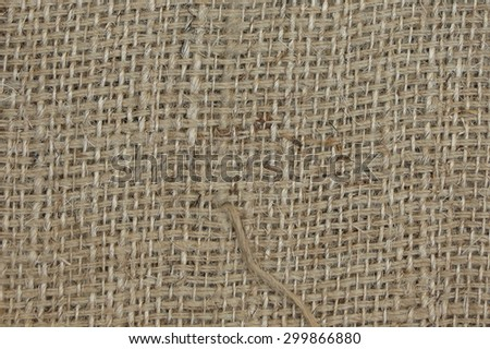 hessian burlap texture useful as a background - stock photo