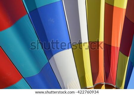 170 High Wind - Taken at the Albuquerque International Balloon Fiesta, New Mexico. - stock photo