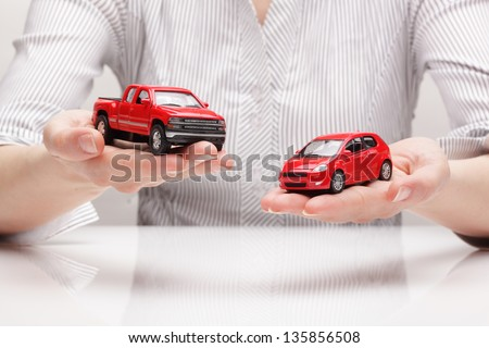 ?hoice of car (concept) - stock photo