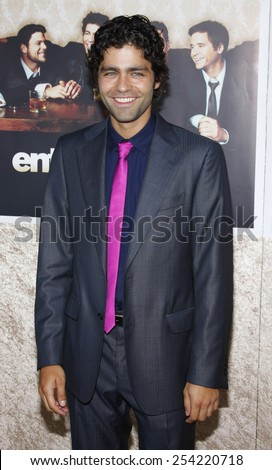 """9/7/2009 - Hollywood - Adrian Grenier at the HBO's Official Premiere of """"Entourage"""" Season 6 held at the Paramount Pictures Studios in Hollywood, United States.  - stock photo"""