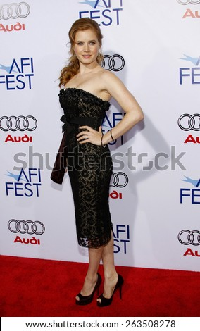"30/10/2008 - Hollywood - Amy Adams at the 2008 AFI FEST Opening Night Gala Presentation of ""Doubt"" held at the ArcLight Theater in Hollywood, California, United States.  - stock photo"
