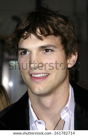 "03/13/2005 - Hollywood - Ashton Kutcher at the ""Guess Who"" Premiere at the Graumann's Chinese Theatre.  - stock photo"