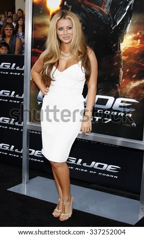 "06/08/2009 - Hollywood - Aubrey O'Day at the Los Angeles Premiere of ""G.I. Joe: The Rise of Cobra"" held at the Grauman's Chinese Theater in Hollywood, California, United States."