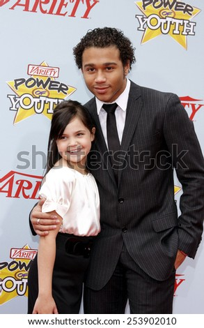 05/12/2009 - Hollywood - Bailee Madison and Corbin Bleu at the Variety's 3rd Annual Power of Youth Event held at the Paramount Pictures Studios in Hollywood, California, United States.  - stock photo