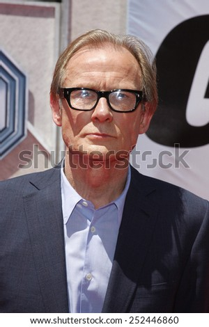 "19/7/2009 - Hollywood - Bill Nighy at the Disney World Premiere of ""G-Force"" held at the El Capitan Theater in Hollywood, United States.  - stock photo"