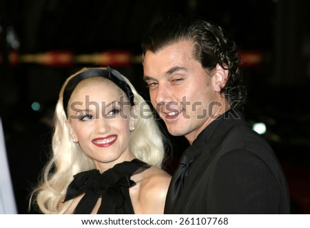 "02/16/2005 - Hollywood - Gwen Stefani and Gavin Rossdale at the ""Constantine"" Film Premiere at Graumans' Chinese Theatre in Hollywood."