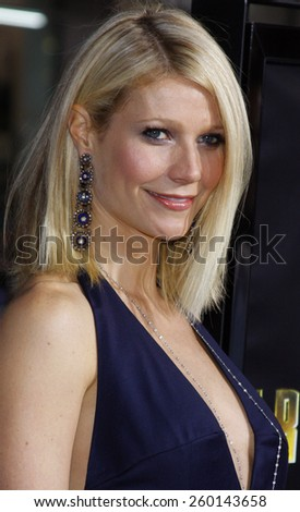 "30/04/2008 - Hollywood - Gwyneth Paltrow arrives to the Los Angeles Premiere of ""Iron Man"" held at the Grauman's Chinese Theater in Hollywood, California, United States.  - stock photo"