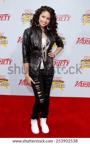 05/12/2009 - Hollywood - Jasmin V at the Variety's 3rd Annual Power of Youth Event held at the Paramount Pictures Studios in Hollywood, California, United States. - stock photo