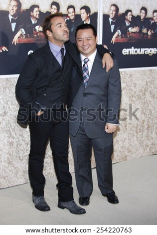 "9/7/2009 - Hollywood - Jeremy Piven and Rex Lee at the HBO's Official Premiere of ""Entourage"" Season 6 held at the Paramount Pictures Studios in Hollywood, United States."