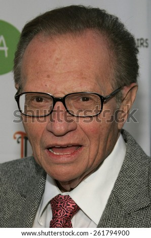 """04/22/2006 - Hollywood - Larry King attends the opening of """"The Children's Collection"""" held at the Junior Arts Center Gallery at Barnsdall Park in Hollywood, California, United States.  - stock photo"""