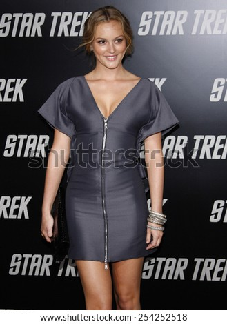 "30/4/2009 - Hollywood - Leighton Meester at the Los Angeles Premiere of ""Star Trek"" held at the Grauman's Chinese Theatre in Hollywood, United States."