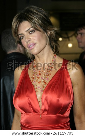 "02/14/2005 - Hollywood - Lisa Rinna at the ""Be Cool"" Premiere Red Carpet at Grauman's Chinese Theater in Hollywood."