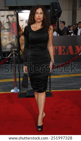 "03/06/2010 - Hollywood - Minnie Driver at the World premiere of ""The A-Team"" held at the Grauman's Chinese Theater in Hollywood, California, United States.  - stock photo"