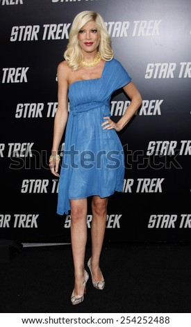 "30/4/2009 - Hollywood - Tori Spelling at the Los Angeles Premiere of ""Star Trek"" held at the Grauman's Chinese Theatre in Hollywood, United States.  - stock photo"