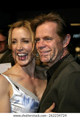 "04/04/2005 - Hollywood - William H. Macy and Felicity Huffman at the ""Sahara"" Premiere at the Grauman's Chinese Theater. - stock photo"