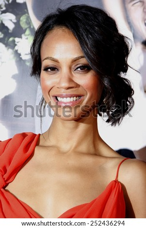 "12/04/2010 - Hollywood - Zoe Saldana at the World Premiere of ""Death At A Funeral"" held at the Arclight Cinerama Dome in Hollywood, California, United States."