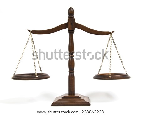 Horizontal Shot Of Antique Scales/Symbol Of Justice