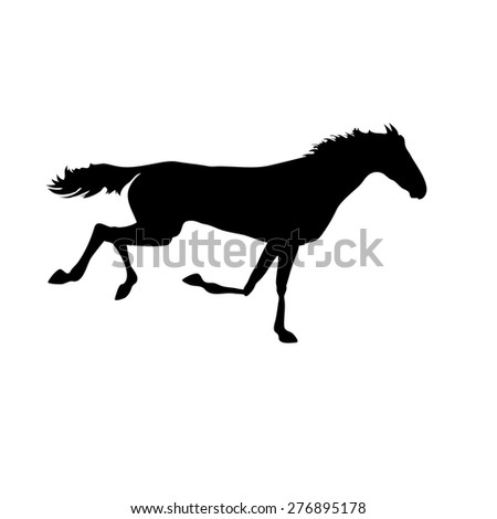 horse images. Silhouette horse drawings. horse posters. Running horse silhouette. Silhouette of a horse head - stock photo
