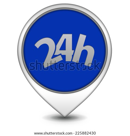 24 hours pointer icon on white background
