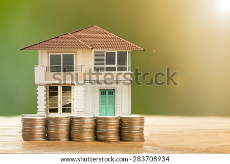 House ,agent set and sale for your life. - stock photo